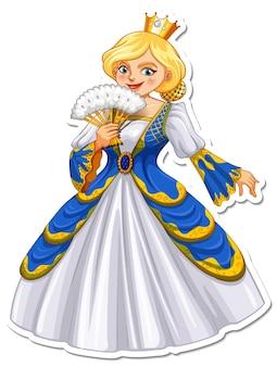 Autocollant de personnage de dessin animé belle reine