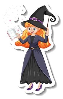 Autocollant de personnage de dessin animé belle sorcière