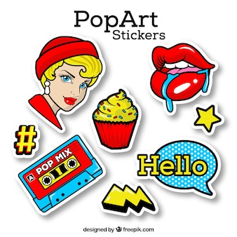 Autocollant pop art avec style classique
