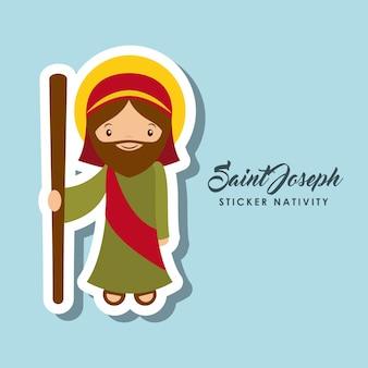 Autocollant saint joseph