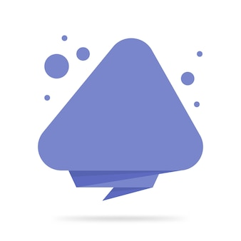 Autocollant de style origami et tampon de bannière. isolé sur fond blanc. vide pour votre texte, site web et projets