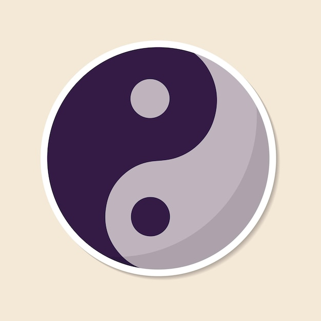 Autocollant symbole yin et yang