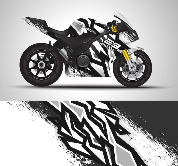 Autocollant de vinyle et autocollant d'enveloppe de moto