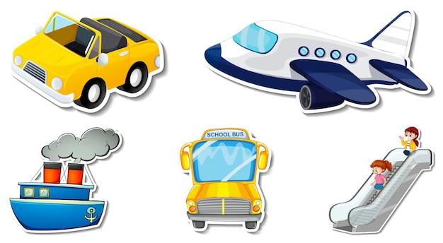 Autocollants aléatoires avec des objets de véhicule transportables