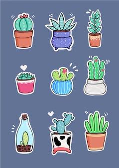 Autocollants de cactus