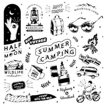Autocollants de camping d'été