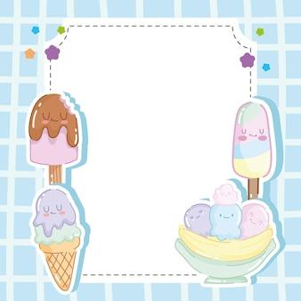 Autocollants de crème glacée