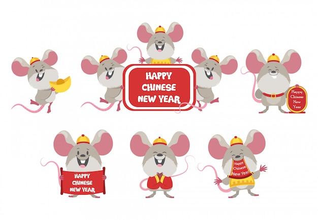 Autocollants de dessin animé du nouvel an chinois