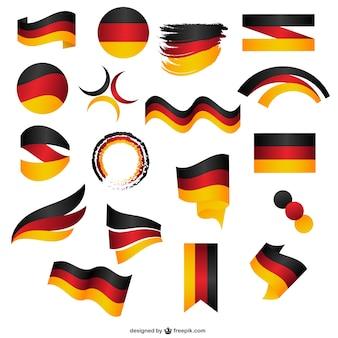 Autocollants de drapeau allemand