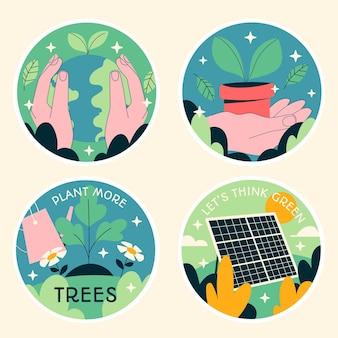 Autocollants écologiques naïfs