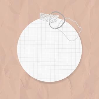 Autocollants goodnotes vecteur élément de papier cercle dans le style memphis