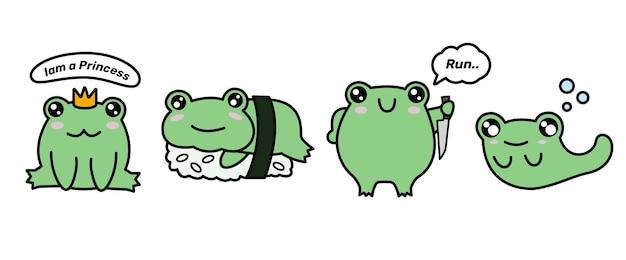 Autocollants grenouille