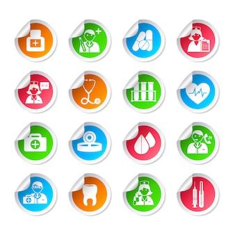 Autocollants d'icônes de soins de santé