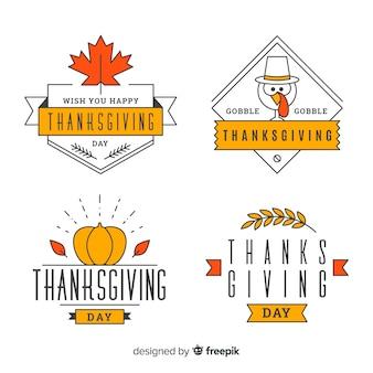 Autocollants linéaires de thanksgiving