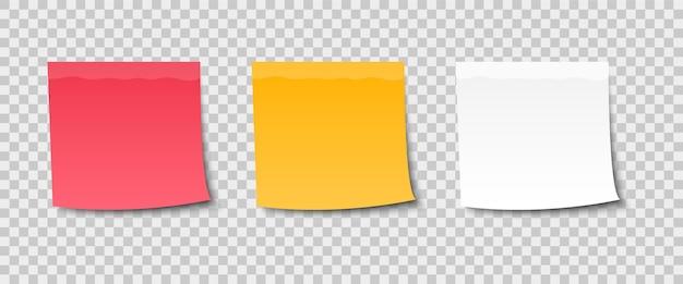 Autocollants de note de couleur pour le message.
