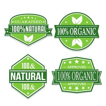 Autocollants organiques et naturels.