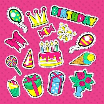 Autocollants et patchs de fête de joyeux anniversaire