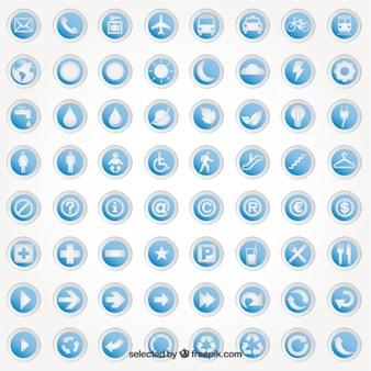 Autocollants ronds, avec des icônes