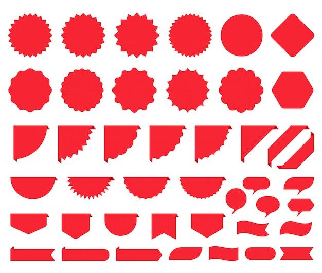 Autocollants starburst. prix promo box éclaté. illustration.