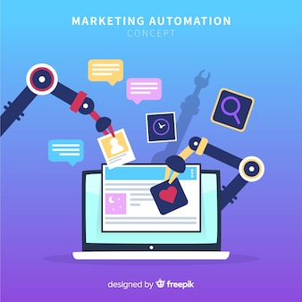 Automatisation du marketing fond plat