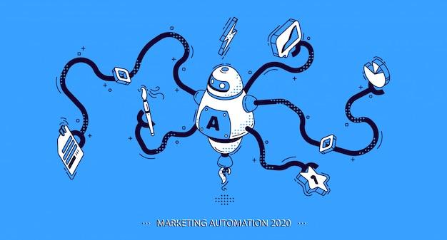 Automatisation du marketing. technologie pour le référencement