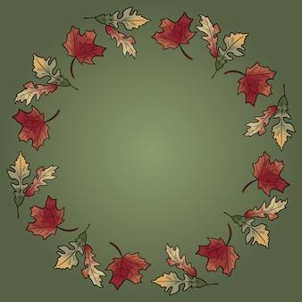 Automne chute feuilles ornement guirlande