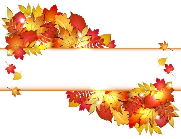 L'automne avec des feuilles rouges. .