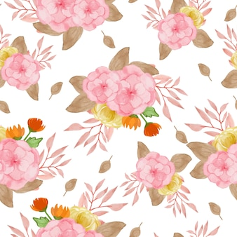Automne floral seamless pattern