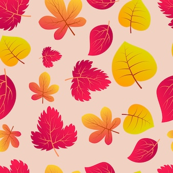Automne fond transparent avec des feuilles colorées. concevez pour les affiches de la saison d'automne, les papiers d'emballage et les décorations de vacances. illustration vectorielle