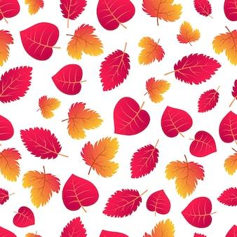 Automne fond transparent avec des feuilles colorées d'érable. concevez pour les affiches de la saison d'automne, les papiers d'emballage et les décorations de vacances. illustration vectorielle