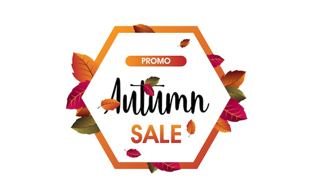 Automne fond de vente dans le cadre avec des feuilles pour shopping vente ou promo. illustration vectorielle