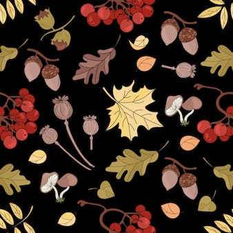Automne maple nature seamless pattern