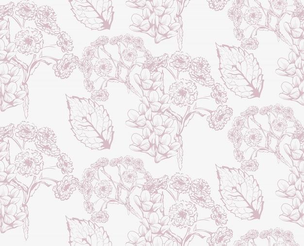 Automne saisonnier herbes motif texture ligne art vecteur