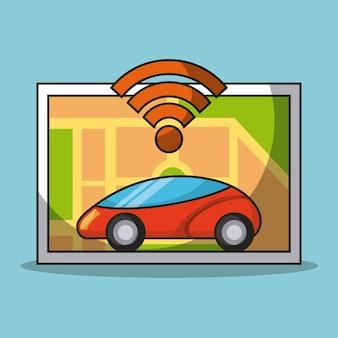 Autonomous car sensor carte navigation technologie intelligente