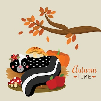 Autumn time_skunk