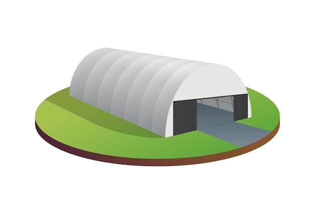 Auvent bâche tente entrepôt temporaire exposition tunnel hall hangar d'avions