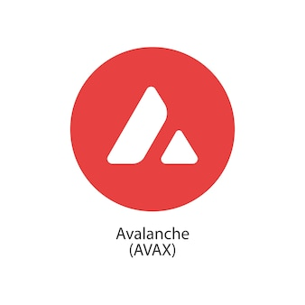 Avalanche blockchain décentralisée internetofthings paiements cryptocoin icône du logo vectoriel