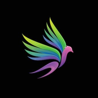 Avaler illustration de logo oiseau moderne coloré dégradé