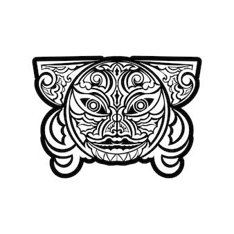Avant-bras de motif tribal de manche de poignet de tatouage polynésien. vecteur d'ornements de modèle ethnique.