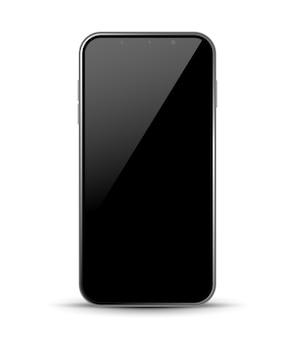 Avant de conception de smartphone isolé. concept de maquette de téléphone portable. illustration vectorielle.
