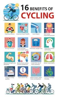 Avantages pour la santé de l'illustration du cyclage