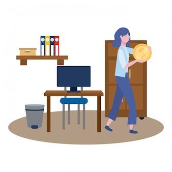 Avatar de femme d'affaires de dessin animé