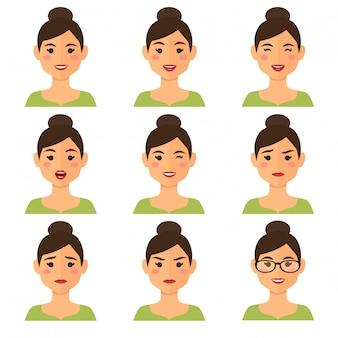 Avatar de femme d'affaires