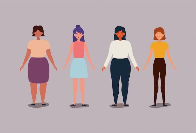 Avatar femmes filles illustration