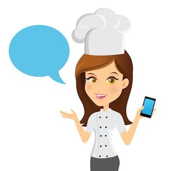 Avatar fille contactez-nous service d'information illustration vectorielle
