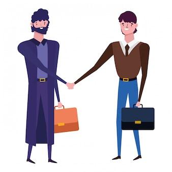 Avatar d'hommes d'affaires avec valise