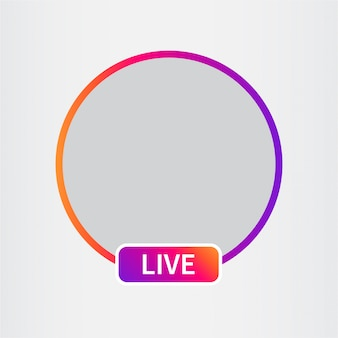 Avatar d'icône de médias sociaux. streaming vidéo en direct.