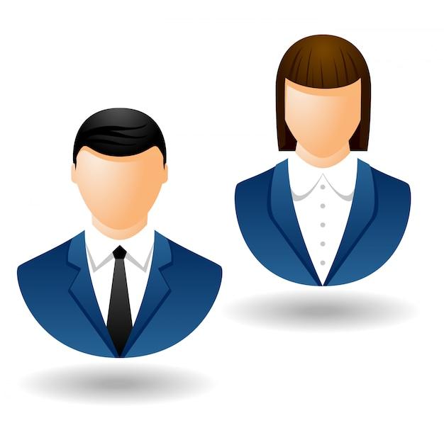Avatar de personne d'affaires isolé sur blanc