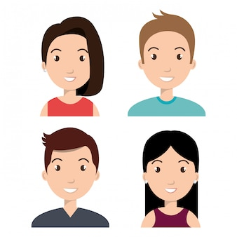 Avatars design de personnes