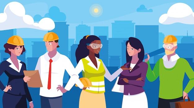 Avatars ensemble de travailleurs professionnels
